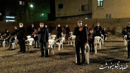 حضور فرماندار شهرستان در مساجد و هیئات مذهبی در شب پنجم محرم