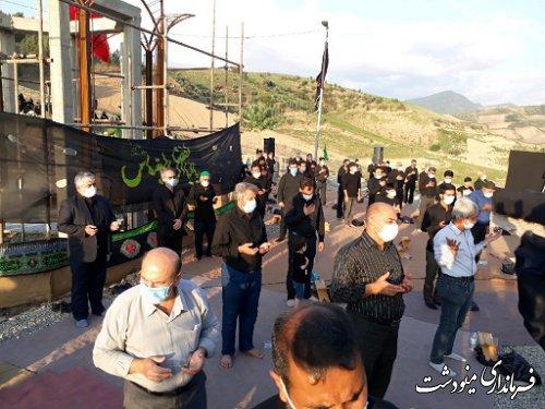 حضور فرماندار شهرستان در مساجد و هیئات مذهبی در ظهر عاشورا