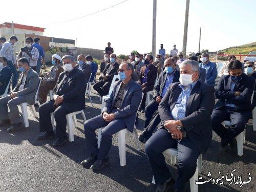 آیین افتتاح و بهره برداری از آسفالت خیابان های روستای جنگلده پایین