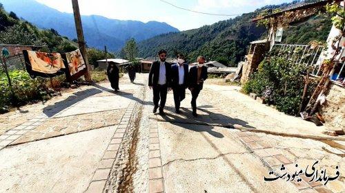 بازدید فرماندار از روستاهای ترسه و یکه سور