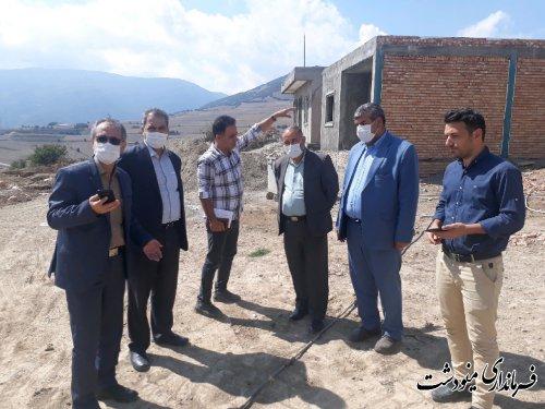 بازدید فرماندار از روند اجرای آسفالت و ساخت و ساز در قلعه قافه