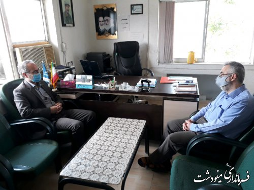 دیدار فرماندار مینودشت با کارکنان شبکه دامپزشکی شهرستان به مناسبت روز دامپزشکی