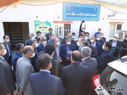 بازدید خامسی معاون وزیر نیرو از سد نرم آب مینودشت