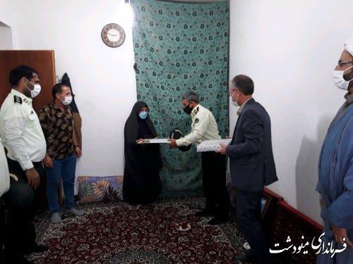 دیدار و تجلیل از خانواده شهدا به مناسبت هفته نیروی انتظامی