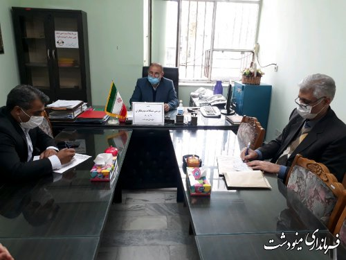 جلسه بررسی مشکلات حوزه توتونکاران شهرستان مینودشت