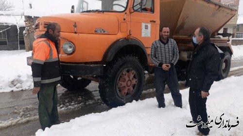 بازدید فرماندار مینودشت از مناطق برف گیر و کوهستانی مینودشت