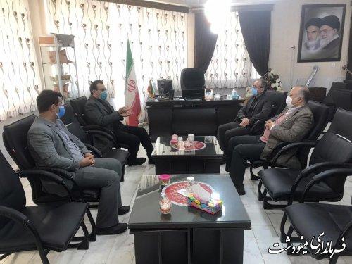 دیدار مدیرکل حفاظت محیط زیست استان گلستان با فرماندار مینودشت