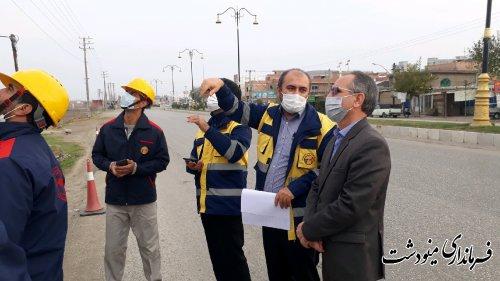 حضور فرماندار مینودشت در مانور جهادی حذف خاموشی های گذرا و تامین پایدار تر برق روستاهای