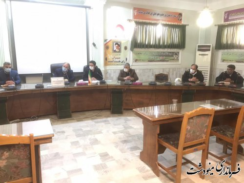 نهمین جلسه شورای هماهنگی امور ترافیکی مینودشت برگزار شد