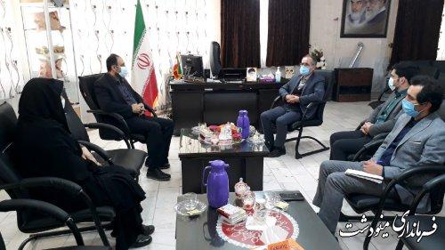 نشست مدیرکل بهزیستی استان با فرماندار شهرستان مینودشت