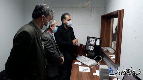 آخرین پیگیری های فرماندار مینودشت جهت راه اندازی دستگاه سی تی اسکن بیمارستان برکت فاطمه الزهرا (س) مینودشت