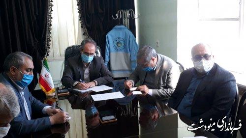 برگزاری نشست هم اندیشی فرماندار مینودشت و اعضای هیات های نظارت برانتخابات