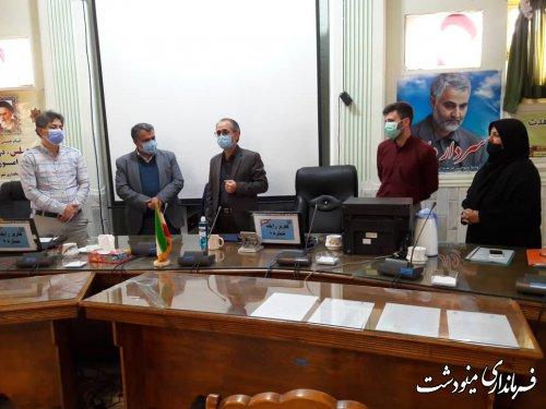 بازدید نماینده مجلس و فرماندار مینودشت از روند ثبت نام شوراها در مینودشت