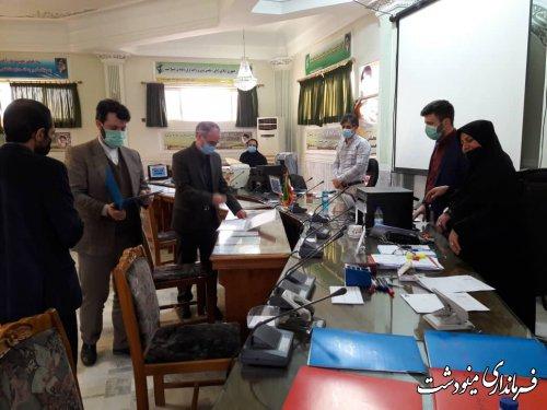 بازدید مدیرکل حراست استانداری گلستان از روند ثبت نام داوطلبین در فرمانداری مینودشت