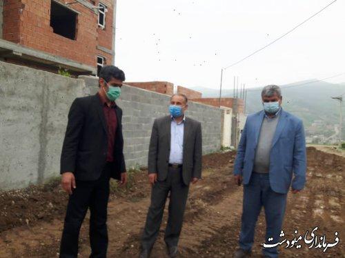 اجرای ۴۰۰۰ متر مربع بتون و زیرسازی معابر روستای محمد شهرستان مینودشت