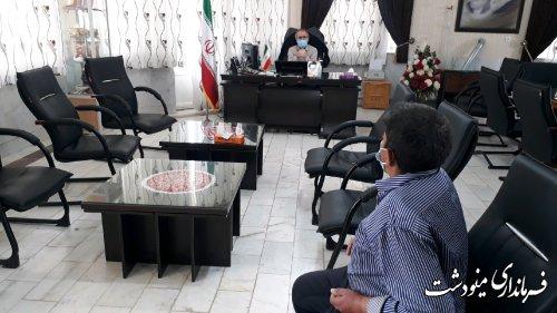 ملاقات عمومی فرماندار شهرستان مینودشت با مردم برگزار شد