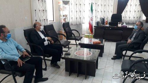 دیدار مدیر عامل کارخانه آرشیا با فرماندار مینودشت