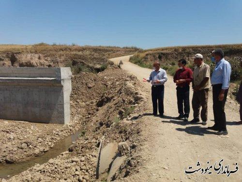 بازدید معاون فرماندار از سطح حوزه آبخیز چهلچای و سازه آبخیزداری اجرا شده توسط اداره منابعطبیعی