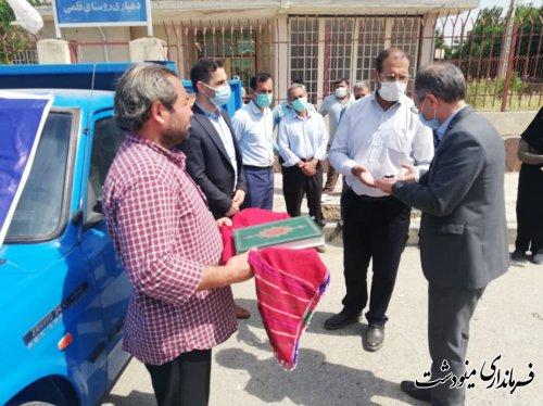 تحویل یک دستگاه خودرو حمل زباله و پسماند به دهیاری روستای قلمی