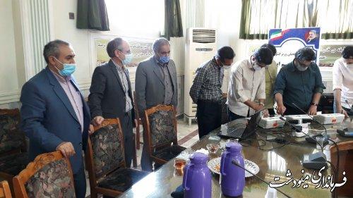 بازدید فرماندار از محل برگزاری دومین مانور انتخاباتی در شهرستان مینودشت