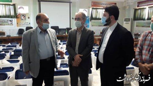 بازدید مشاور عالی استاندار و مدیرکل حراست استانداری از ستاد انتخابات شهرستان مینودشت