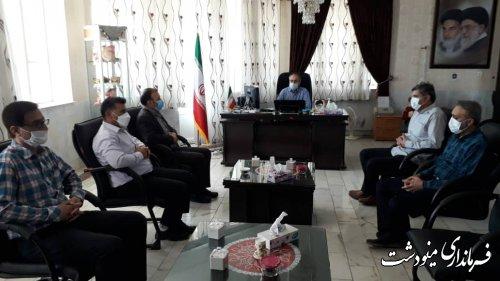 دیدار منتخبین شورای ششم شهرستان مینودشت با فرماندار