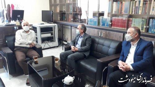 دیدار فرماندار مینودشت با ریاست دادگستری و دادستان به مناسبت هفته قوه قضاییه