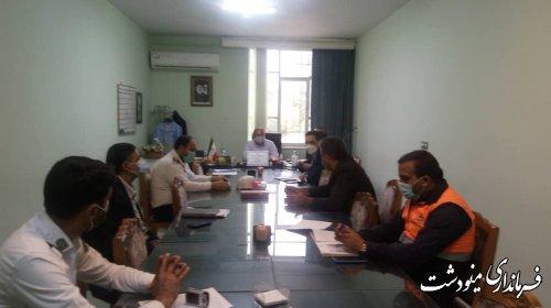 جلسه شورای ترافیک مینودشت برگزار شد