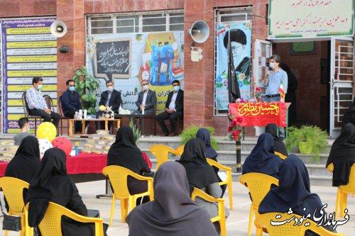 مانور بازگشایی مدارس سال تحصیلی 1400-1401 با حضور فرماندار شهرستان مینودشت
