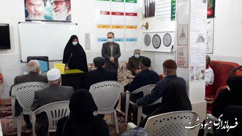 بازدید فرماندار شهرستان از مرکز سالمندان نور امید مینودشت