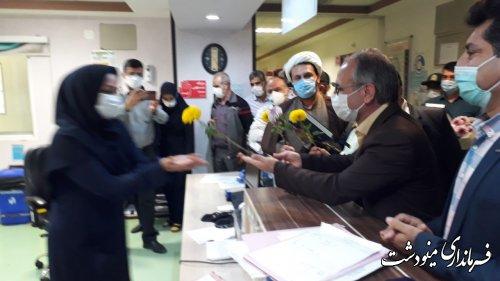 بازدید فرماندار از بخش اطفال بیمارستان برکت فاطمه الزهرا(س) مینودشت