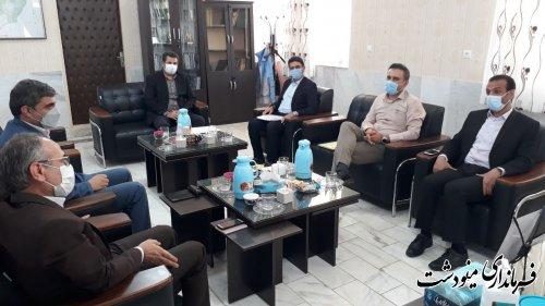 دیدار مدیرکل میراث فرهنگی استان با فرماندار مینودشت